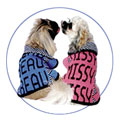 personalized knit dog coat