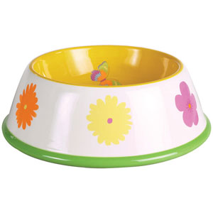 Garden Party Ceramic Dog Bowls