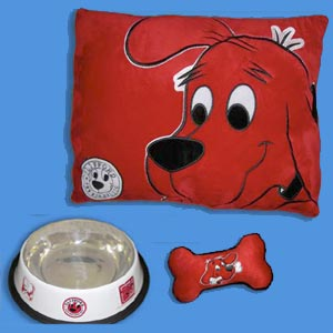 Clifford the big red dog 3 pc dog set