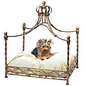 Jeweled Crown Canopy Dog Bed