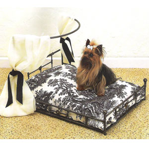 dog bed with removable canopy or awning  sc 1 st  CallingAllDogs.com & Metal Dog Bed with Detachable Awning