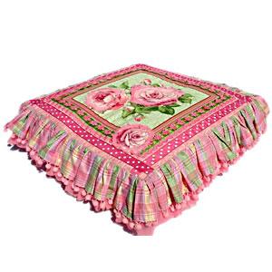rose blossom applique designer dog bed