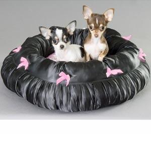 satin snuggle dog bed