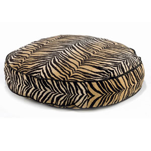Bowsers round dog beds - animal print dog bed