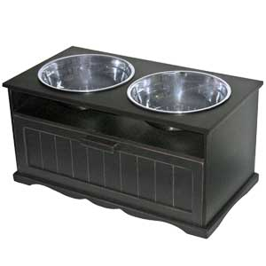 Genial Elevated Dog Diner U0026 Food Storage