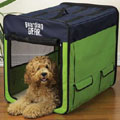 medium dog crate: soft travel dog crate
