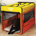 large dog crate: soft travel dog crate
