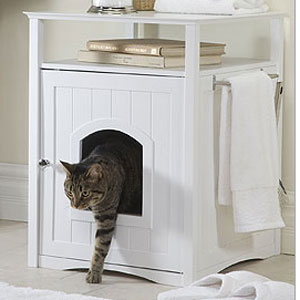 Enclosed Dog Bed Cat Litter Box