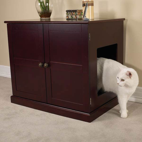 Enclosed Dog Bed / Wood Cabinet