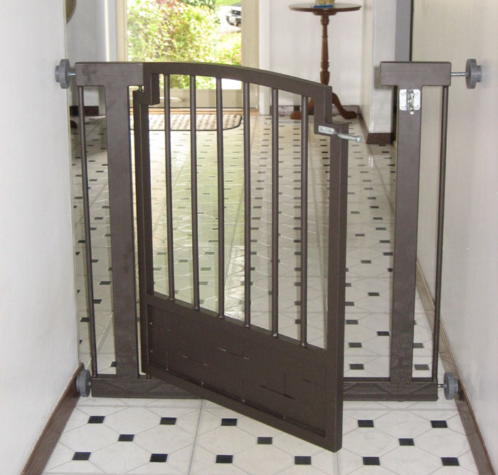Wrought iron indoor dog gate will keep your dog safely contained ...