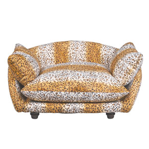 Leopard Sofa Dog Bed