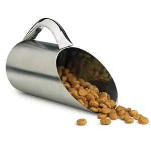 stainless steel dog food scoop