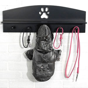 leash hooks and shelf wall organizer for the home