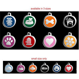 enamel pet id tags