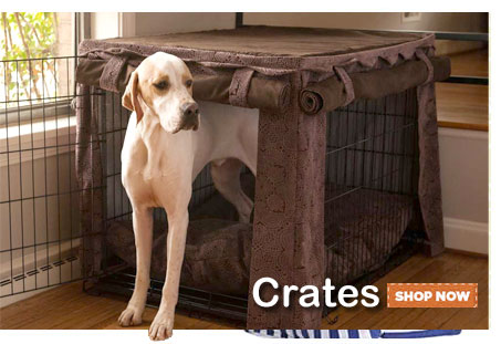 Dog crates and attractive covers! Shop Dog Crates & Accessories—Click Here