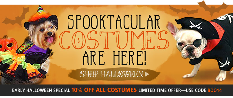 Spooktacular Costumes Are Here! Shop Halloween! Early Halloween Special! 10% Off All Costumes-Use Code BOO14