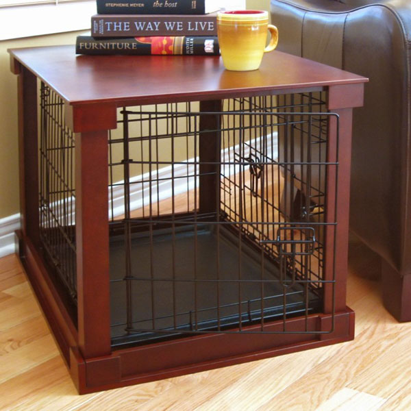 CallingAllDogs.com & Dog Crate with Wood Cover