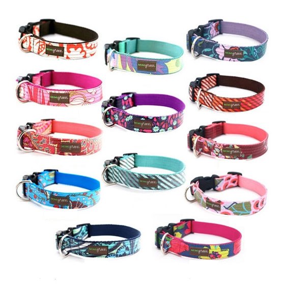 Embroidered Reflective Personalized Dog Collar