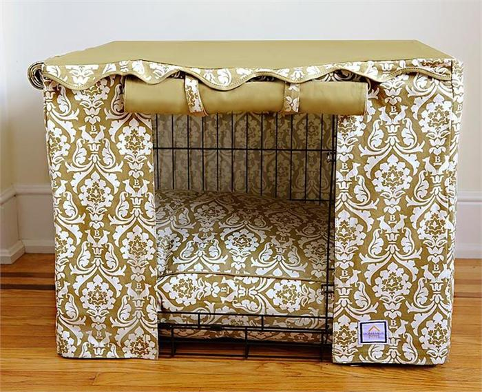 Damask Crate Cover Set